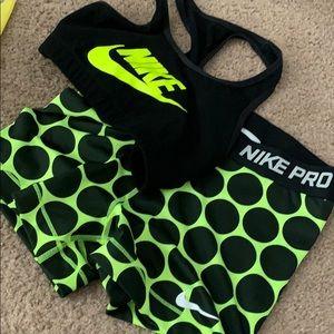 Nike pro set